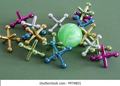Jacks and a rubber ball