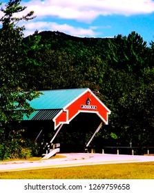 Jackson Covered Bridge in White Mountains New Hampshire