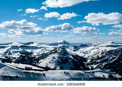 Jackson Hole, Teton Village Resort Mountain Range