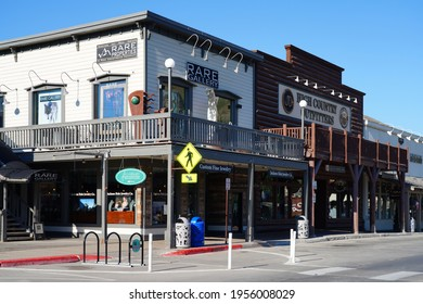 JACKSON HOLE, WY –1 AUG 2020- View of the Western town of Jackson Hole, Wyoming, United States.