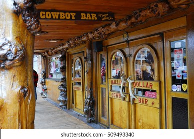 Jackson Hole, WY/USA - june 12 2010: Legendary Million Dollar Cowboy Bar in center of Jackson Hole
