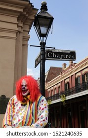 JACKSON SQUARE NEW ORLEANS FRENCH QUARTER CLOWN