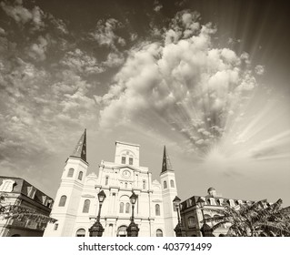 Jackson Square on a beautiful day, New Orleans.