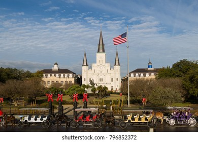Jackson Square and St. Louis Cathedral, New Orleans, Louisiana