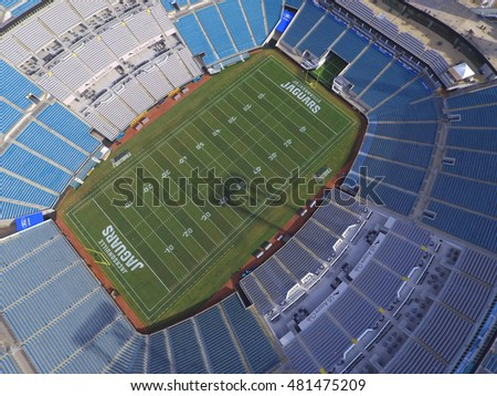 JACKSONVILLE   AUGUST 18: Aerial Photo Of The Everbank Field Stadium Home  To The Jacksonville