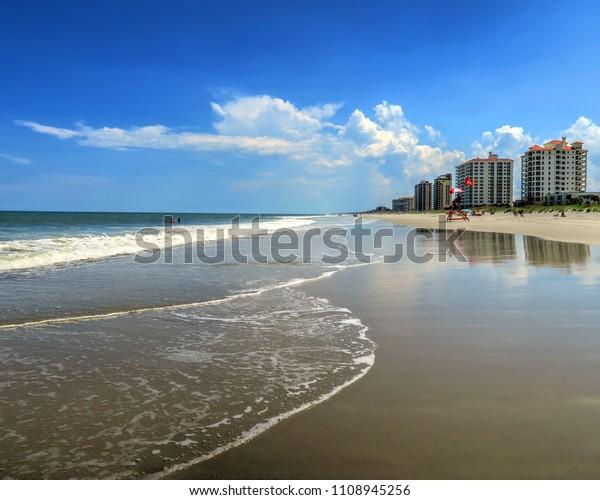 Jacksonville Beach Condos Sand Water le jour du soleil