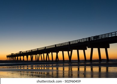 Jacksonville Beach, Florida Pier at Sunrise