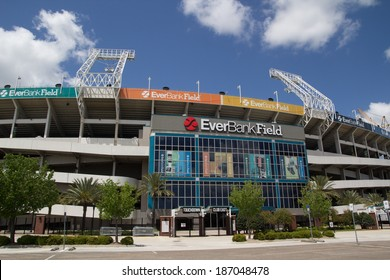 JACKSONVILLE, FL - APRIL 13, 2014: EverBank Field in Jacksonville. EverBank Field is an American Football Stadium and the home stadium of the Jacksonville Jaguars of the National Football League.