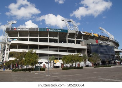JACKSONVILLE, FL - OCTOBER 26, 2016: EverBank Field in Jacksonville. EverBank Field is an American Football Stadium in downtown Jacksonville. Home of the NFL team the Jacksonville Jaguars.