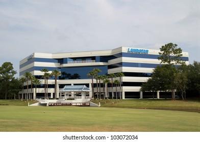 JACKSONVILLE, FL-APR 26: The Landstar System, Inc. headquarters building in Jacksonville, Florida on April 26, 2012.  Landstar System reported 2012 1st quarter record net income of $26.8 million.
