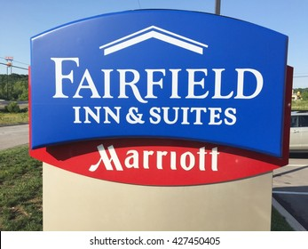 JACKSONVILLE, FL-MAY 22, 2016:  Fairfield Inn and Suites by Marriott. Fairfield Inn and Suites is a brand franchised by Marriott aimed at leisure travelers and business people.