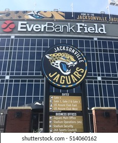 JACKSONVILLE, FL-NOVEMBER 11, 2016:  EverBank professional sports stadium and home field for the Jacksonville Jaguars.