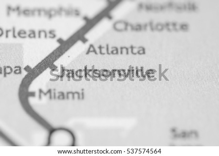 Map Jacksonville Florida.Jacksonville Florida On Geographical Map Stock Photo Edit Now