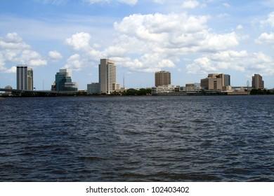 Jacksonville Florida Skyline Southbank