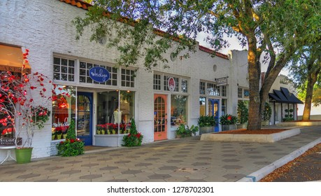 Jacksonville, Florida / United States - December 25, 2018: Downtown Avondale Local Business District