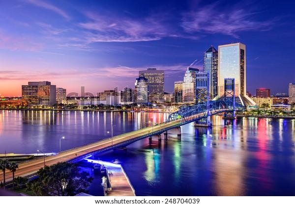 Jacksonville, Floride, ville des États-Unis, horizon.