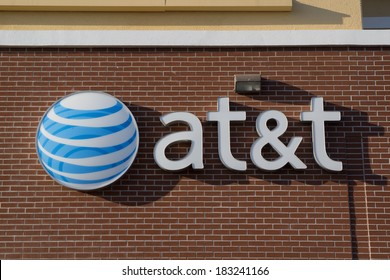 JACKSONVILLE, FLORIDA, USA - MARCH 9, 2013: An AT&T Mobility sign in Jacksonville. AT&T Mobility is the second largest wireless telecommunications provider in the United States and Puerto Rico.