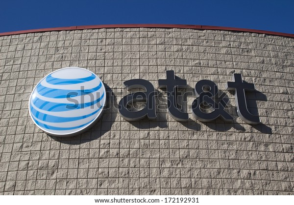JACKSONVILLE, FLORIDA, USA - NOVEMBER 28, 2013: An AT&T Mobility sign in Jacksonville. AT&T Mobility is the second largest wireless telecommunications provider in the United States and Puerto Rico.