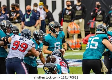 Jacksonville, Florida USA November 8 2020 NFL Houston Texans vs Jacksonville Jaguars Jake Luton