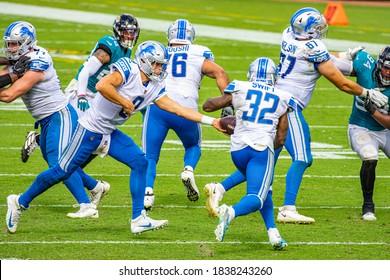 Jacksonville, Florida USA October 18 2020 NFL Detroit Lions vs Jacksonville Jaguars Matthew Stafford D'Andre Swift