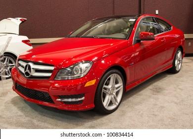 JACKSONVILLE, FLORIDA-FEBRUARY 18: A 2012 Mercedes Benz at the Jacksonville Car Show on February 18, 2012 in Jacksonville, Florida.