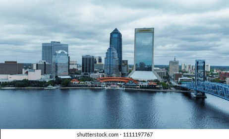 Jacksonville skyline from the air, Florida.