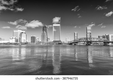 Jacksonville skyline on a beautiful day, Florida.