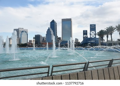 The Jacksonville skyline showcased with the Friendship Fountain