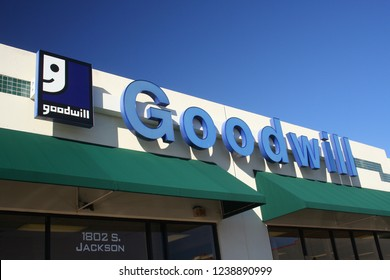 Jacksonville, TX - January 3, 2012: Goodwill Store located in Jacksonville, TX