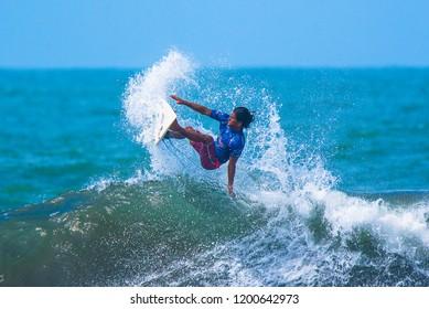 Jaco Beach, Costa Rica, October 7, 2018: Essential Costa Rica Surf Pro, World Surf League, Tournament