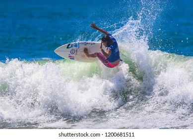Jaco Beach, Costa Rica, October 7, 2018: Essential Costa Rica Surf Pro, World Surf League, Tournament
