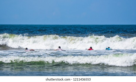 Jaco Beach, Costa Rica, October 20, 2018: PUNTO SURF AND QUIKSILVER local surfing tournament