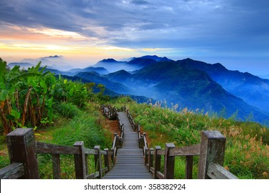Jacob White Cloud Mountains in Taiwan.
