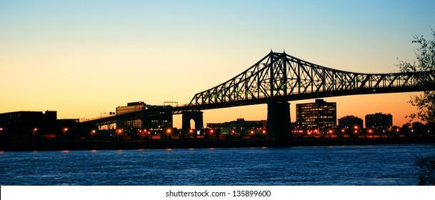 Jacques Cartier bridge of Montreal