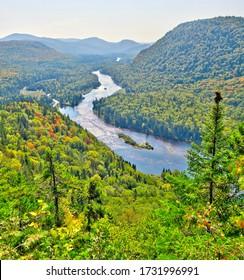 Jacques Cartier River natural park, Quebec, Canada