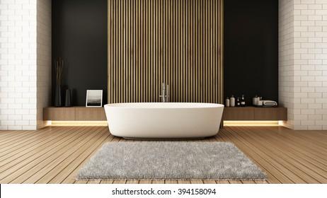 Jacuzzi bath design modern & Loft - 3D render