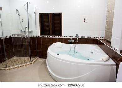 Jacuzzi in bathroom