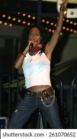 Jada Pinkett Smith and her band 'Wicked Wisdom' perform on stage at Grove in Los Angeles in 2004.