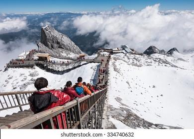 Jade Dragon snow mountain Lijiang city, Yunnan China, OCTOBER 21, 2015