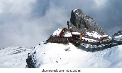 Jade dragon snow mountain in lijiang, China