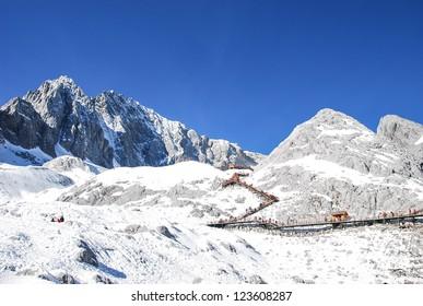 Jade Dragon Snow Mountain  is a mountain near Lijiang, in Yunnan province, southwestern China. Its highest peak is named Shanzidou