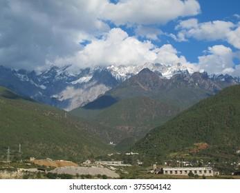 Jade Dragon Snow Mountain. Jade Dragon Snow Mountain is a mountain near Lijiang, in Yunnan province, southwestern China