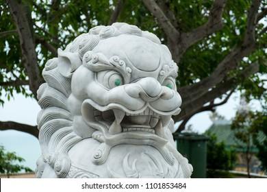 Jade-Eyed Foo Dog at Linh Ung Buddhist Temple, Da Nang, Vietnam