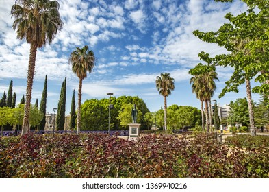 JAEN, SPAIN - 29 March 2019: Bulevar Park in Jaen