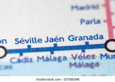 Jaen, Spain on a geographical map.