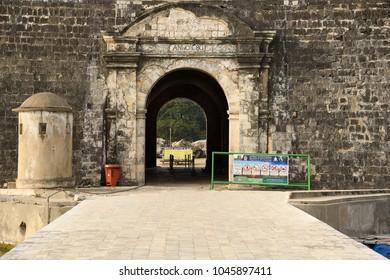 JAFFNA,SRI LANKA - JANUARY 29.2018: entrance to famous fort on January 29,2018 in Jaffna, Sri Lanka