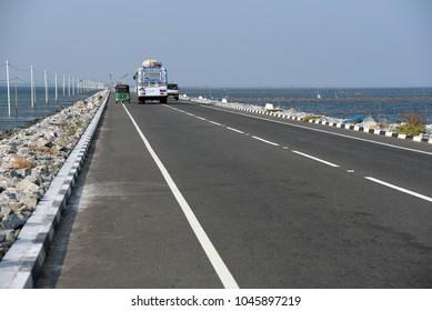 JAFFNA,SRI LANKA - JANUARY27.2018: Sangupiddy Bridge on January 27,2018 in Jaffna, Sri Lanka