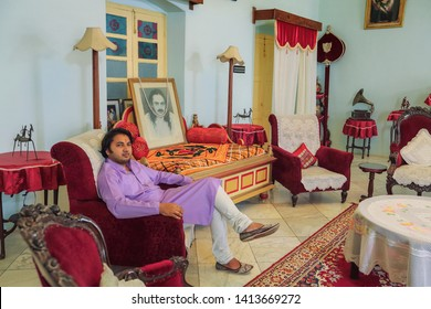 Jagdalpur, 22,October ,2012:His Highness  Maharaja Kamal Chandra  Bhanj Deo Prince of Bastar relaxing   on sofa at his residence , Jagdalpur, Bastar, Chhattisgarh, India.Asia