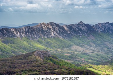 Jagged peaks of Veliki Krs mountain ridge in eastern Serbia, near the city of Bor - Shutterstock ID 1973181587