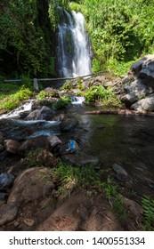 Jagir waterfall also known as Kampung Anyar waterfall, located in Kampung Anyar village, Banyuwangi, East Java